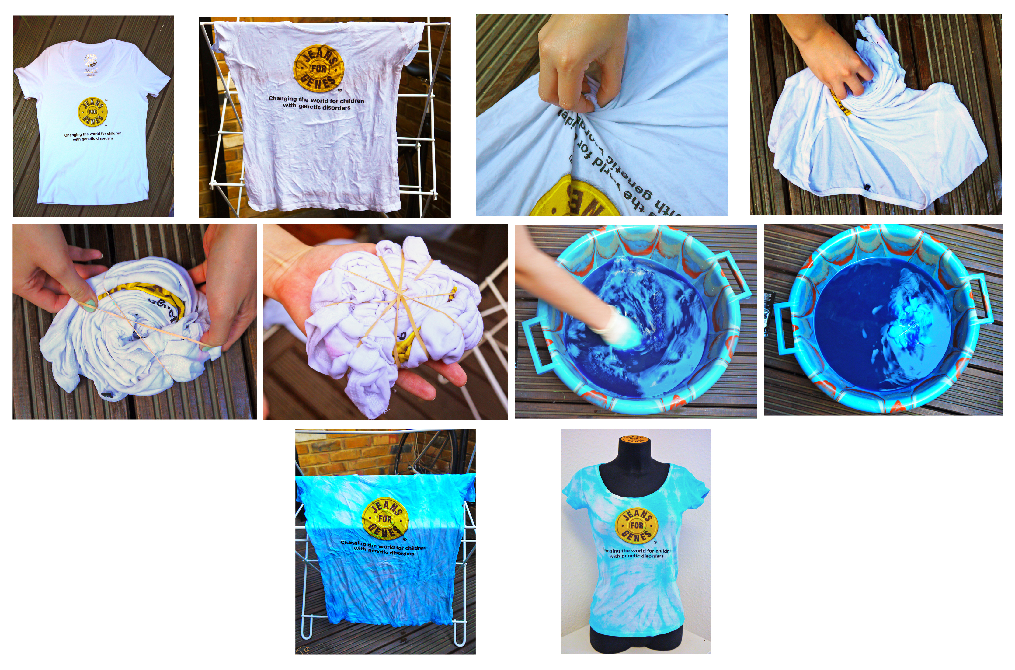 Get creative with our wonderful white logo t shirt tie for Making a tie dye shirt