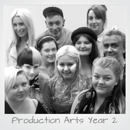 Production arts 2013 Class