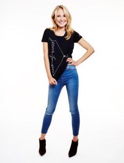 Kimberley Garner in black Jeans for Genes t-shirt