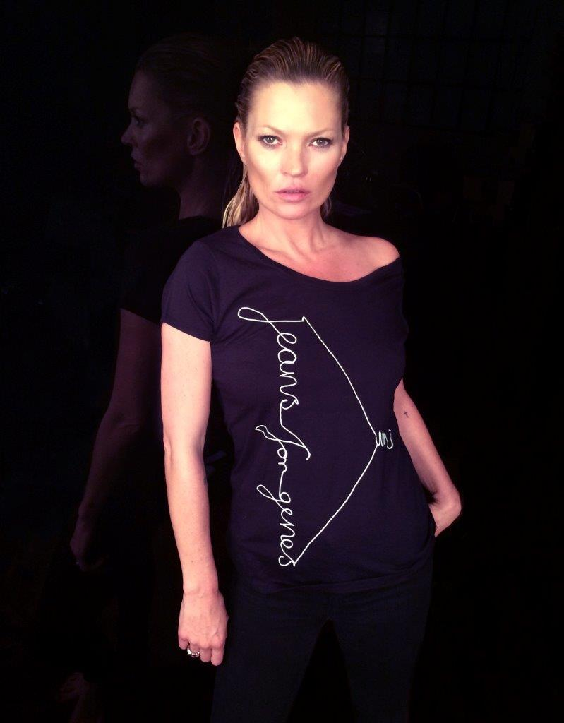 Kate Moss in Jeans for Genes fashion t-shirt low res (do not send high res image)