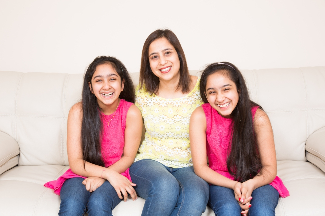 Vanika & Vanishka with mum Ruchika