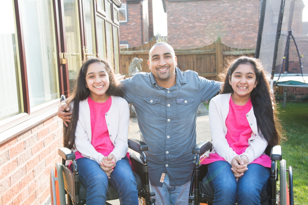 Vanika and Vanishka with dad Amandeep
