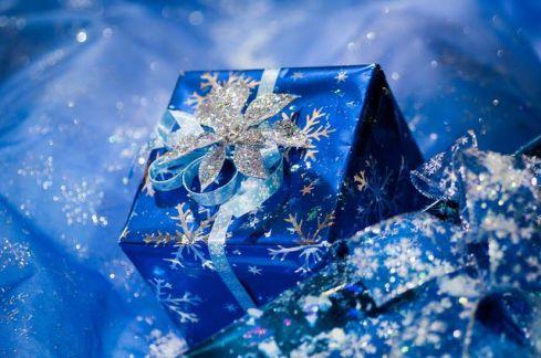 blue xmas present